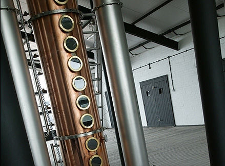 Inside Chase Distillery