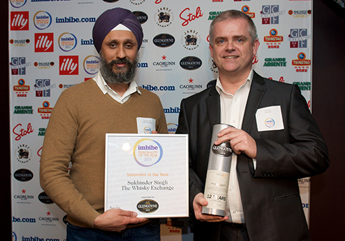 2013 Sukhinder is named Innovator of the Year at the Imbibe Personality of the Year Awards