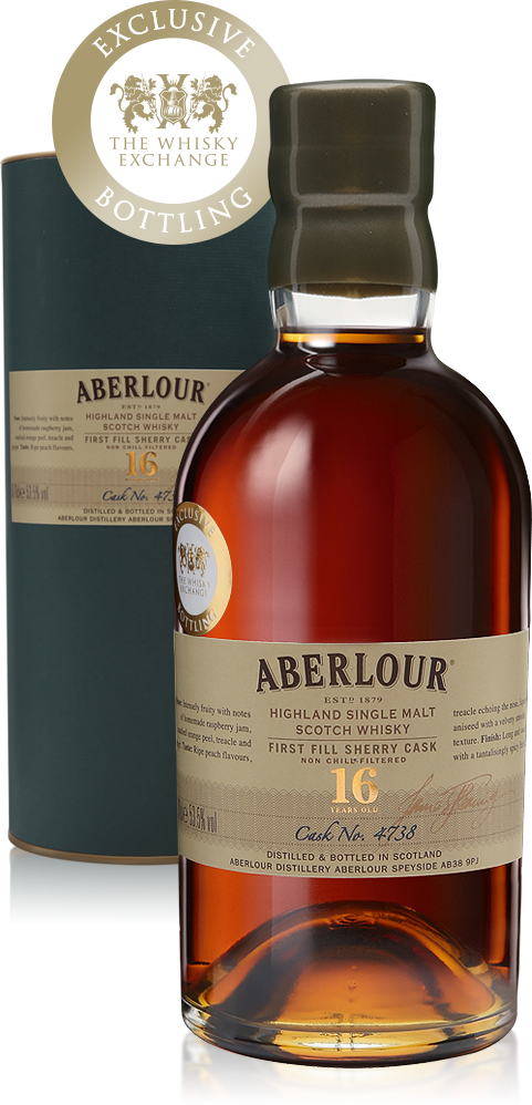 Aberlour 16 Years Old Single First-fill Sherry Cask with presentation box