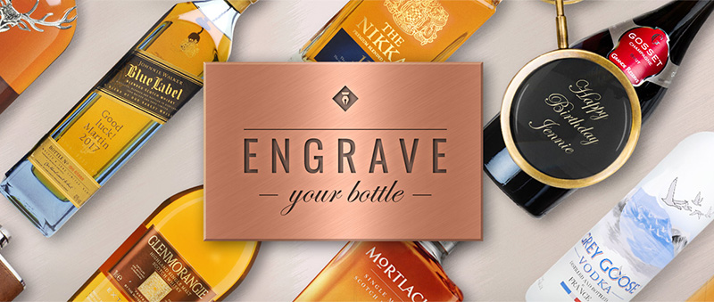 Add personalised engraving to your bottle