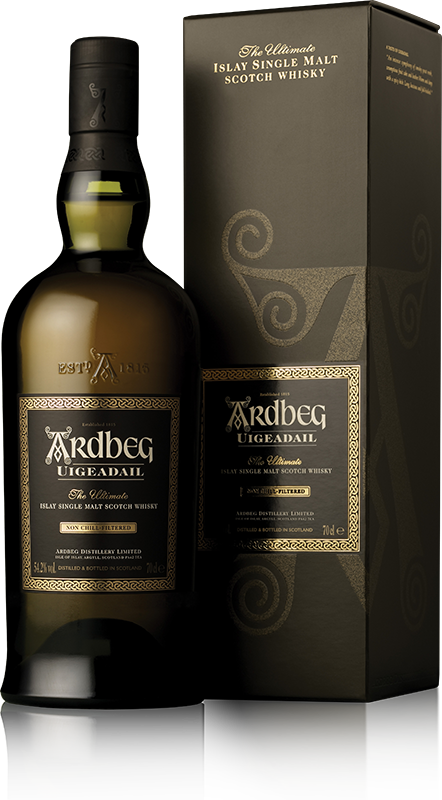 Ardbeg Uigeadail bottle with gift box