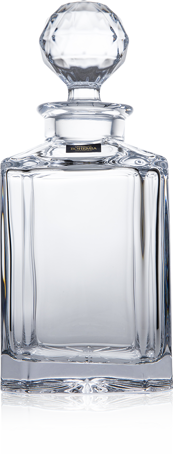 Bohemia Crystal / Whisky Decanter / Square / 80cl (28.1oz)