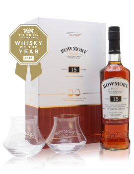 Bowmore 15 Year Old + 2 Glasses Set Presentation