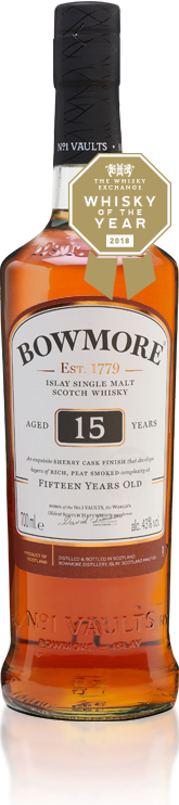 Bowmore 15 Year Old + 2 Glasses Set