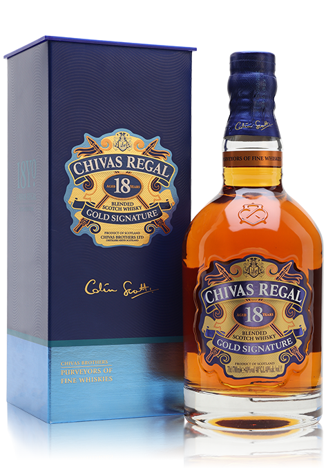 Chivas Regal 18 Year Old bottle with gift box