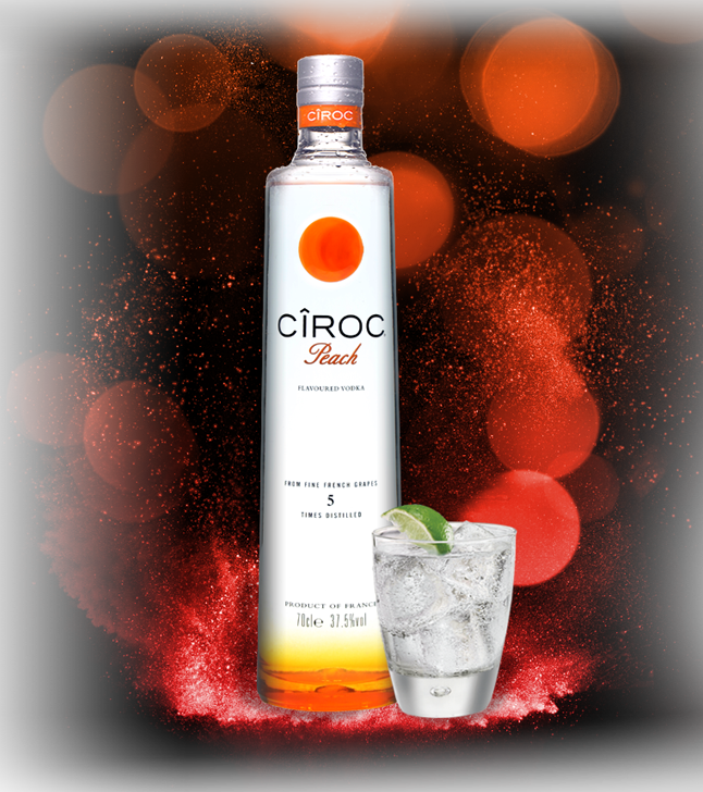 Personalised Ciroc Peach Vodka Engraving : The Whisky Exchange