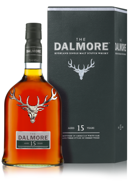 Dalmore 15 Year Old bottle with box