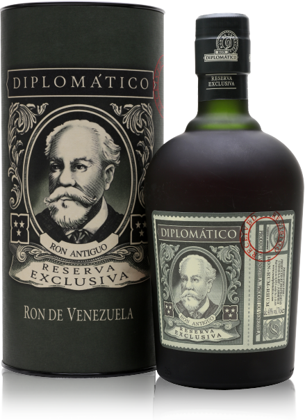 Diplomatico Reserve Exclusiva bottle with box
