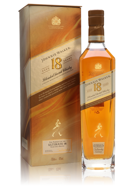 Johnnie Walker 18 Year Old bottle with gift box
