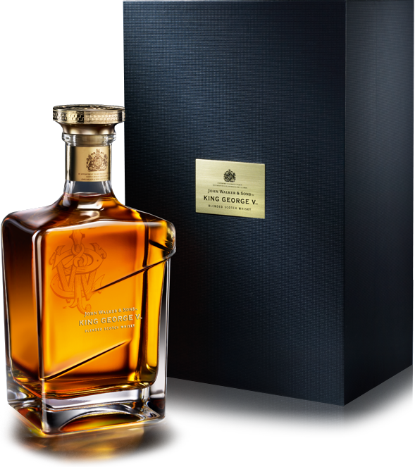 Johnnie Walker King George V bottle with gift box