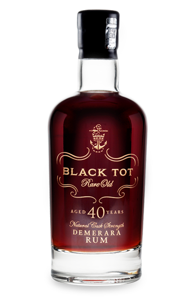Black Tot 40 Year Old rum with presentation gift box