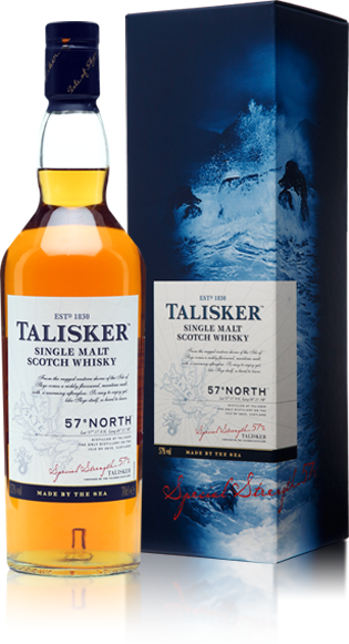 Talisker 57 North bottle with gift box