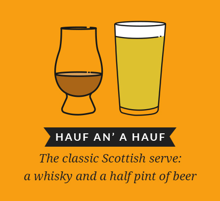 Hauf an' a hauf: The classic Scottish serve: a whisky and a half pint of beer
