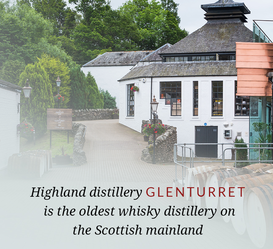 Highland distillery Glenturret is the oldest whisky distillery on the Scottish mainland.