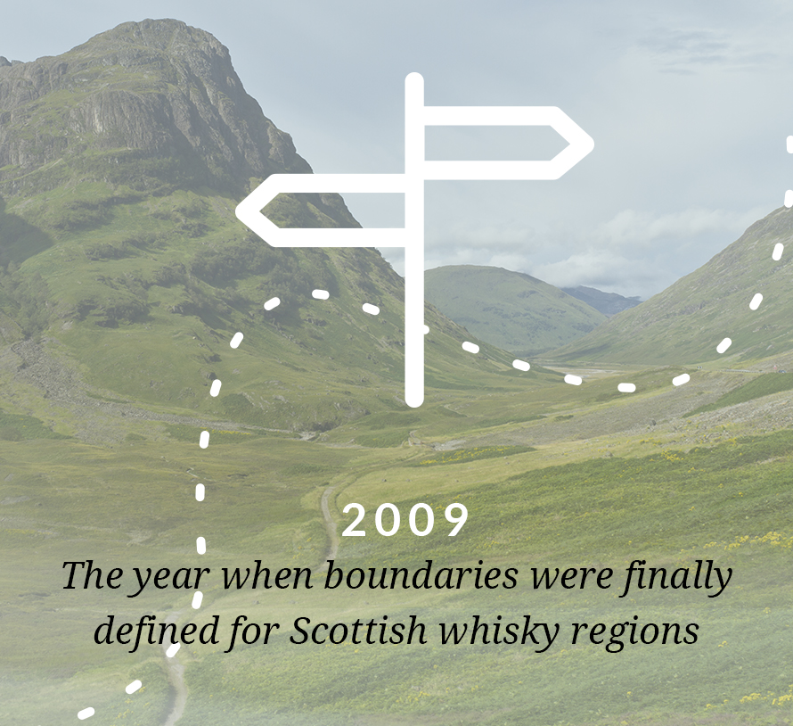 In 2009 the boundaries were finally defined for Scottish whisky regions