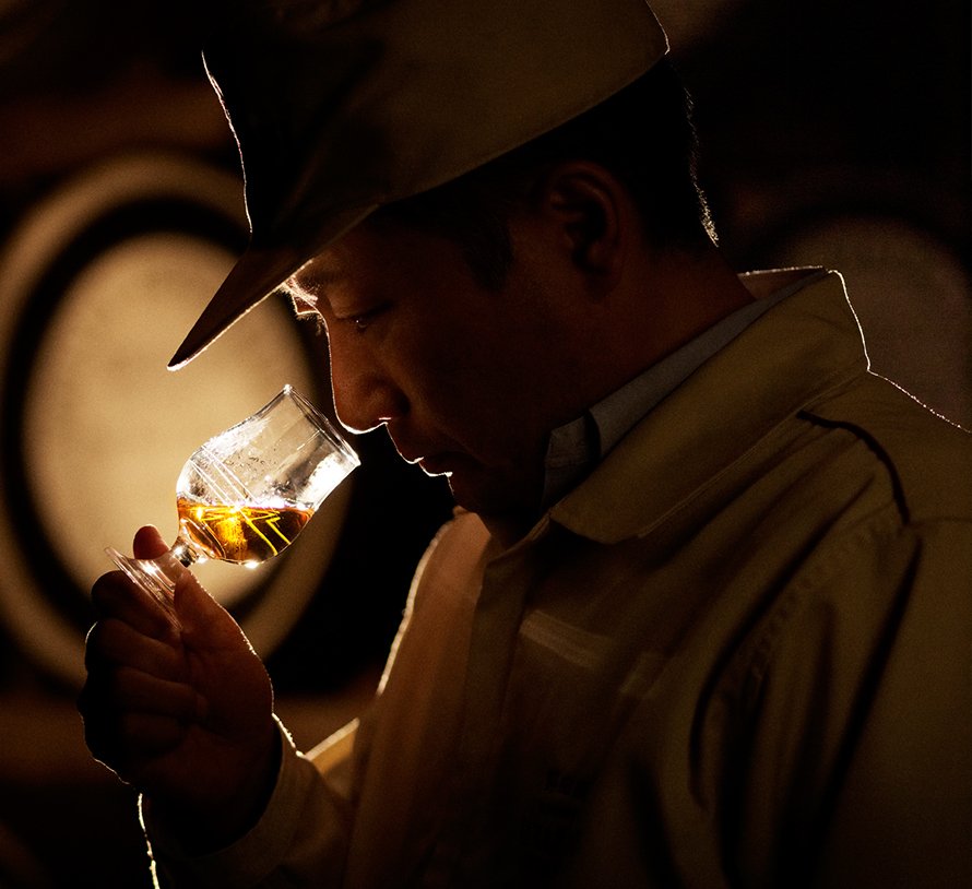 Quality control: nosing every cask before bottling