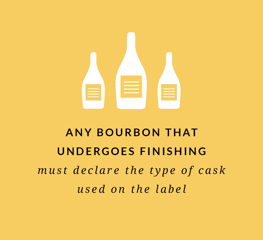 Any bourbon that undergoes finishing must declare the type of cask used on the label