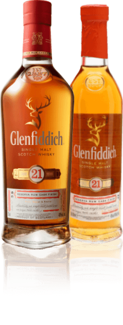 Glenfiddich 21 Year Old 70cl and Glenfiddich 21 Year Old 20cl