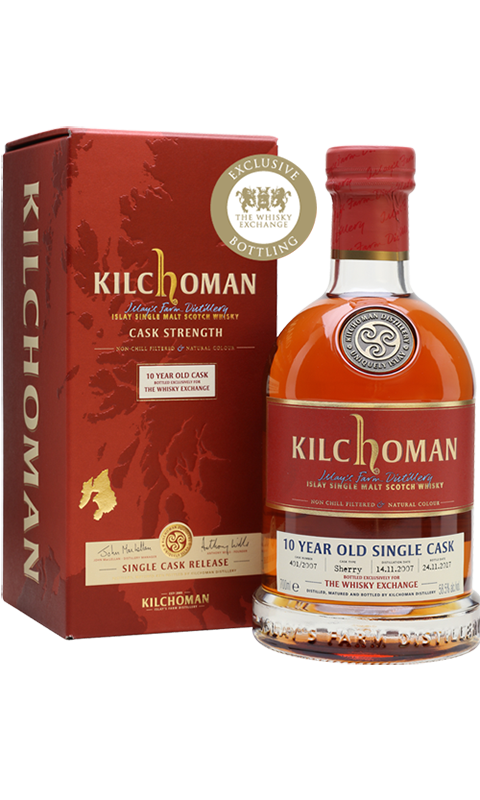 Kilchoman 2007 Single Sherry Cask TWE Exclusive Bottle