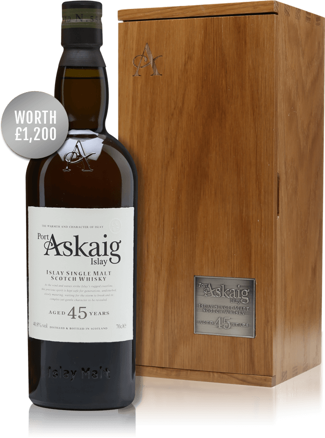 Win a bottle of Port Askaig 45 Year Old!