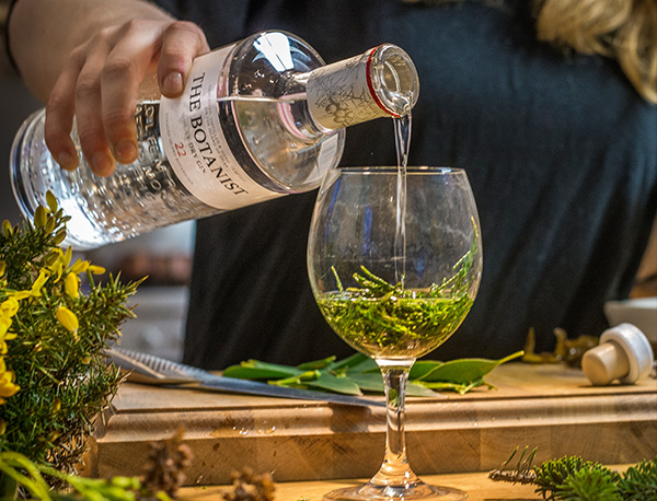 glass of The Botanist – Islay Dry Gin