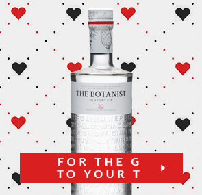 botanist gin for the g to your t - Valentines Vodka