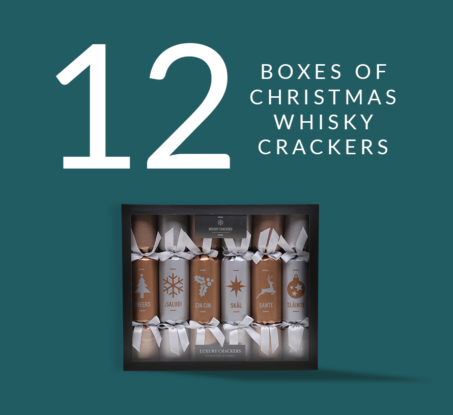 12 boxes of Christmas Whisky Crackers