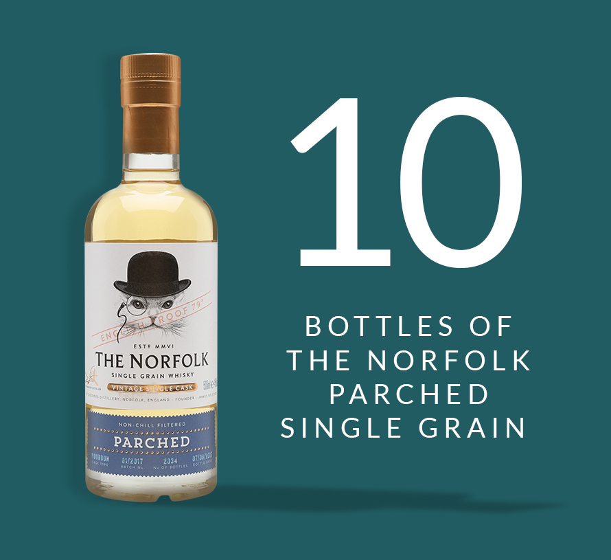 10 bottles of The Norfolk Parched Single Grain