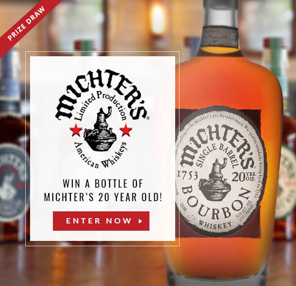 Win a bottle of Michter's 20 Year Old Single Barrel Bourbon with The Whisky Exchange