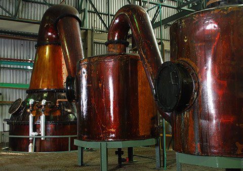 Rums distilled in pot stills are typically fuller and richer than those distilled in column stills
