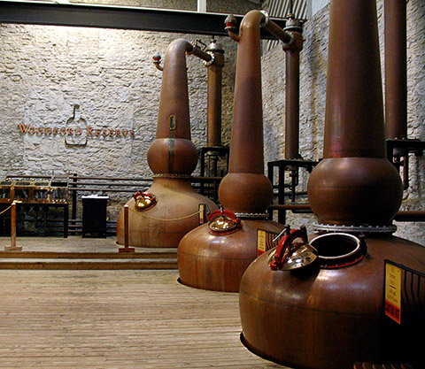 Woodford Reserve is the only bourbon producer to triple-distil its spirit