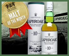 Malt of the month - Laphroaig 10