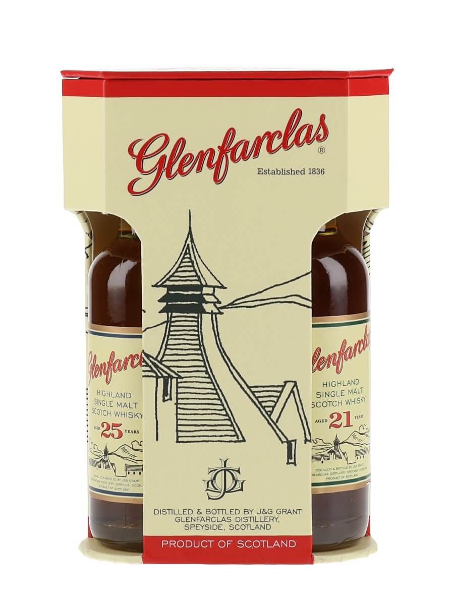 Glenfarclas Miniature Gift Pack / 15 & 21 & 25 Year Old